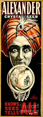 Vintage Magicians Playbill 1910 Art Print