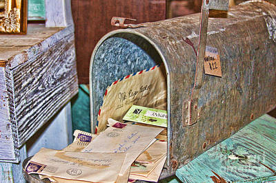 Photograph - Vintage Mail by Audreen Gieger