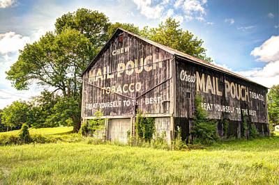 Mail Pouch Barn Photograph - Vintage Mail Pouch Barn by Gregory Ballos