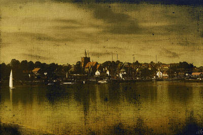 Art Print featuring the digital art Vintage Maldon  by Fine Art By Andrew David