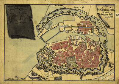 Digital Art - Vintage Map Of The City Of Copenhagen Dated 1800 by Melissa Messick
