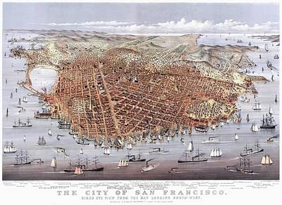 Photograph - Vintage Map Of The City Of San Francisco by Benjamin Yeager