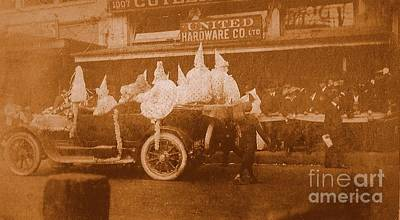Photograph - New Orleans Vintage Mardi Gras Parade On Canal Street Circa 1920's by Michael Hoard