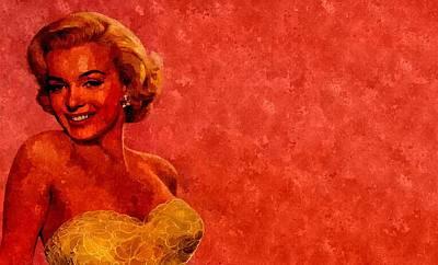 Marilyn Monroe Painting - Vintage Marilyn by Florian Rodarte