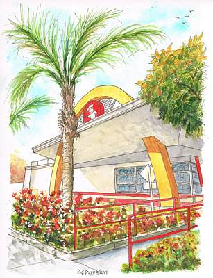 Hamburger Painting - Vintage Mcdonald's In Whittier - California by Carlos G Groppa