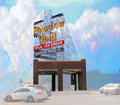 Photograph - Vintage Meadow Gold Sign by Janette Boyd