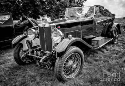 Union Jack Photograph - Vintage Mg by Adrian Evans