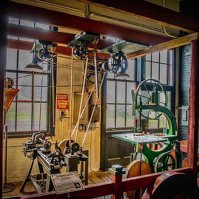 Vintage Michigan Machine Shop Art Print by Paul Freidlund