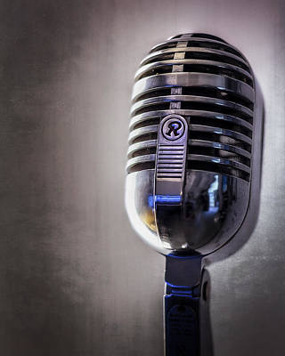 Chrome Photograph - Vintage Microphone 2 by Scott Norris
