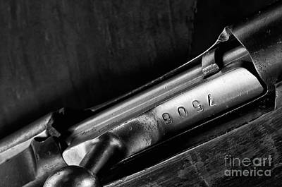 Photograph - Vintage Military Rifle  by Wilma  Birdwell