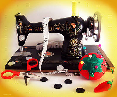 Photograph - Vintage Mini Sewing Machine by Shawna Rowe