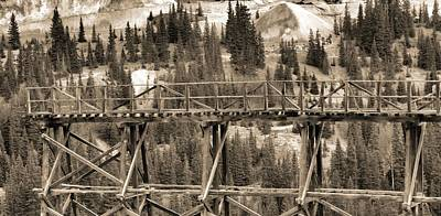 Gold Mine Photograph - Vintage Mining Trestle by Dan Sproul