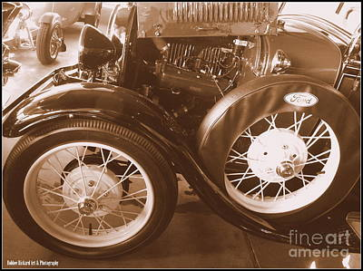 Photograph - Vintage Model T Wheels by Bobbee Rickard