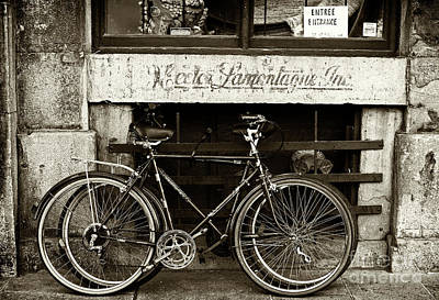 Old Montreal Photograph - Vintage Montreal Bikes by John Rizzuto