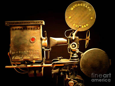 Lumiere Photograph - Vintage Motion Picture Camera 7d13221 20150220 by Wingsdomain Art and Photography