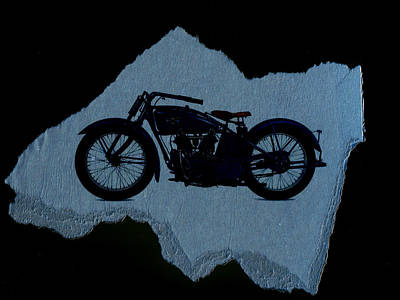 Transportation Digital Art - Vintage Motorcycle by David Ridley