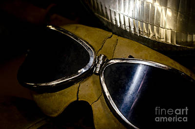 Vintage Motorcycle Goggles Print by Wilma  Birdwell