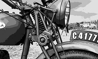 Motorcycle Digital Art - Vintage Motorcycle by Marvin Blaine