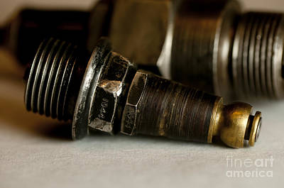 Photograph - Vintage Motorcycle Spark Plugs by Wilma  Birdwell