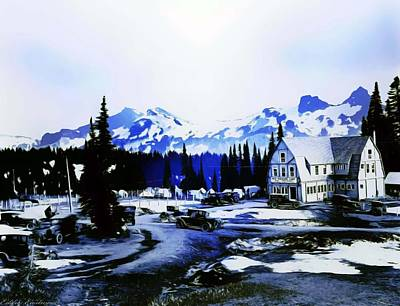 Vintage Mount Rainier Camp And Store Supplies Early 1900 Era... Art Print