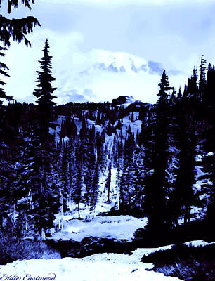 Art Print featuring the photograph Vintage Mount Rainier Forest Early 1900 Era... by Eddie Eastwood