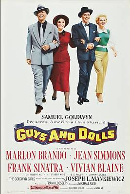 Guys And Dolls Digital Art - Vintage Movie Poster 7 by Spencer McKain