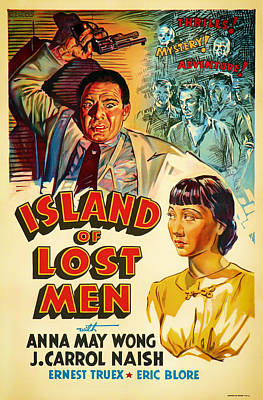 Lithograph Mixed Media - Vintage Movie Poster - Island Of Lost Men1933 by Mountain Dreams