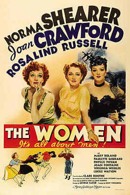 Lithograph Mixed Media - Vintage Movie Poster - The Women 1939 by Mountain Dreams