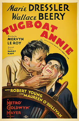 Lithograph Mixed Media - Vintage Movie Poster - Tugboat Annie 1933 by Mountain Dreams