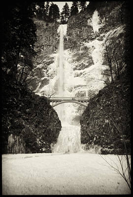 Photograph - Vintage Multnomah Falls by Jon Ares