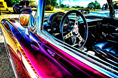 Photograph - Vintage Muscle Car Interior by Danny Hooks