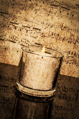 Photograph - Vintage Music By Candlelight by Erin Cadigan