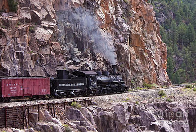 Photograph - Vintage Narrow Gauge Locomotive Steam Train To Durango by Jerry Cowart