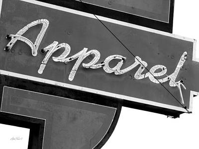 Photograph - Vintage Neon Apparel Sign - Photography by Ann Powell