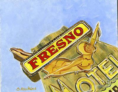 Vintage Neon- Fresno Motel Original by Sheryl Heatherly Hawkins