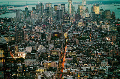 Skylines Royalty-Free and Rights-Managed Images - Vintage New York Skyline by Silvio Ligutti