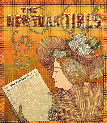 Lithograph Mixed Media - Vintage New York Times Advertisement 1895  by Mountain Dreams