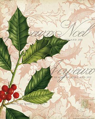 Hope Painting - Vintage Noel I by Katie Pertiet