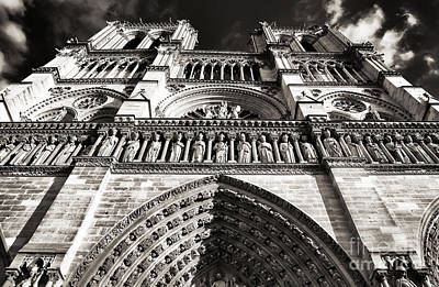 Brown Tones Photograph - Vintage Notre Dame by John Rizzuto
