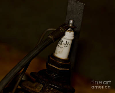 Photograph - Vintage Number 18 Spark Plug by Wilma  Birdwell
