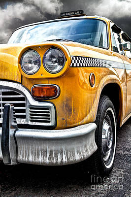 Type Photograph - Vintage Nyc Taxi by John Farnan