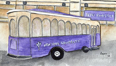 Painting - Vintage Nyu Trolley by AFineLyne