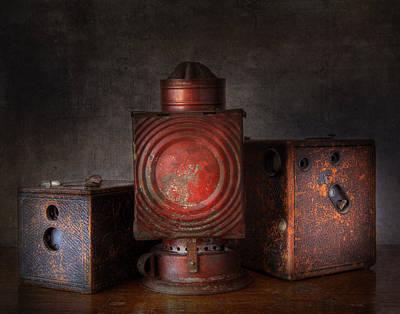 Vintage Oil Darkroom Lamp Art Print