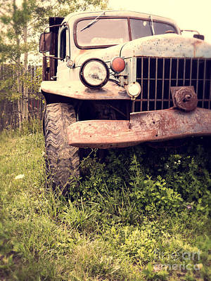 Rusty Cars Wall Art - Photograph - Vintage Old Dodge Work Truck by Edward Fielding