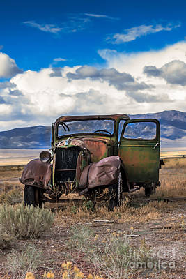 Haybales Photograph - Vintage Old Truck by Robert Bales
