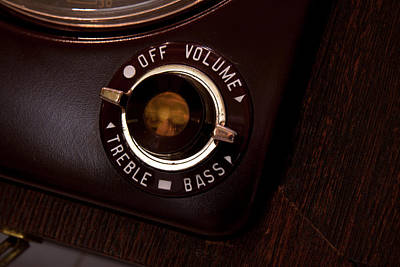 Photograph - Vintage On Off Button From Old Tube Reel To Reel by Gunter Nezhoda