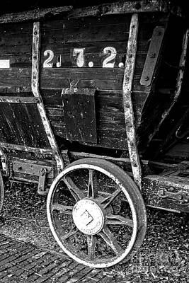 Photograph - Vintage Original 18th Century Mining Train by Doc Braham