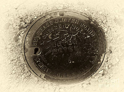 Photograph - Vintage Orleans Water Meter by John Rizzuto