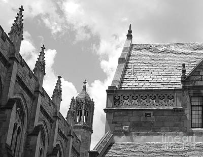 University Of Michigan Digital Art - Vintage Ornate Architecture by Phil Perkins