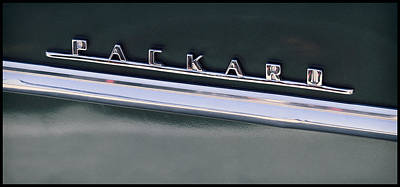 Photograph - Vintage Packard Insignia by Tony Grider